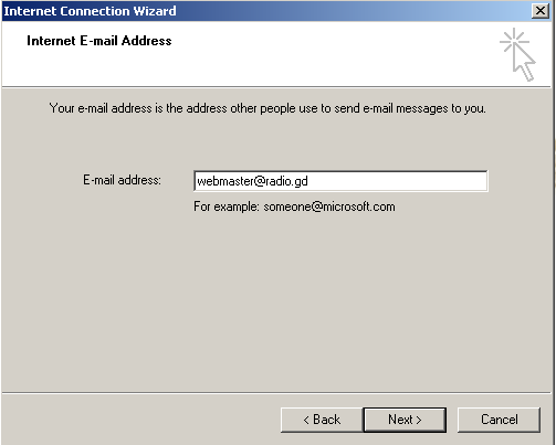 Outlook Express scherm 4