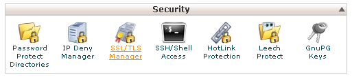 Cpanel beheerscherm